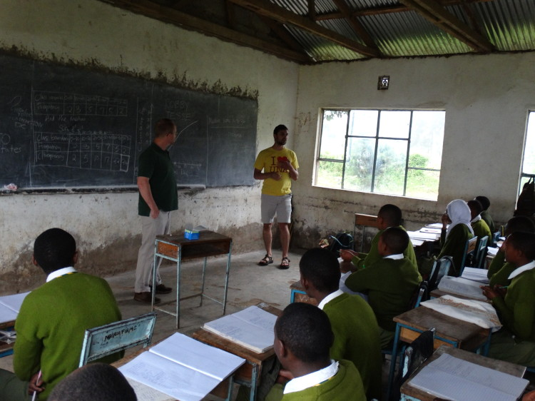 Robby and Jesse in Classroom